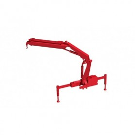 Herpa 054126 Hiab X-HIPRO 232-E3 loading crane with hook, red