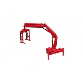 Herpa 054133 Hiab X-HIPRO 232-E3 loading crane with pallet fork, red