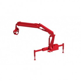 Herpa 054140 Hiab X-HIPRO 232-E3 loading crane with grab, red
