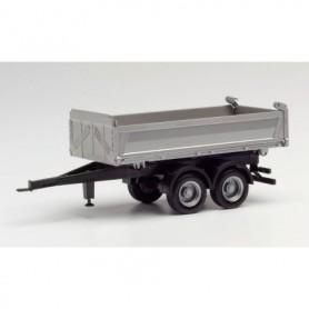 Herpa 076975 Tandem tipper trailer meiller, silver