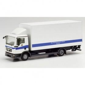 Herpa 095648 MAN TGL MAN TGL box truck with tail lift Polizei Berlin