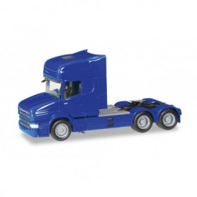 Herpa 151726-007 Scania Hauber TL rigid tractor 6x4, ultramarine blue
