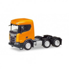 Herpa 309028-002 Scania CR XT flat Roof construction semitrailer 3-axles, orange