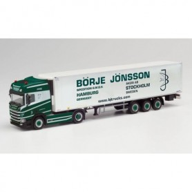 Herpa 311953 Scania CR 20 HD refrigerated box semitrailer 'Börje Jönsson'