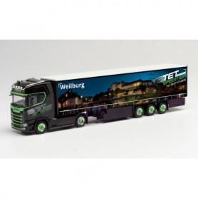 Herpa 312394 Scania CS 20 HD curtain canvas semitrailer 'TET | Weilburg'