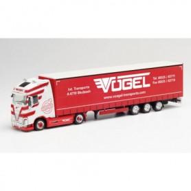 Herpa 312486 Volvo FH Gl. XL lowliner semitrailer 'Vögel'