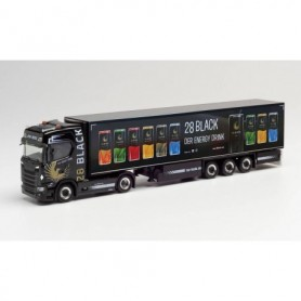 Herpa 312509 Scania CS 20 HD refrigerated box semitrailer 'TSU Bode | 28 Black'
