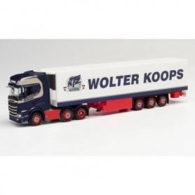 Herpa 312547 Scania CS 20 HD 6x2 refrigerated box semitrailer 'Wolter Koops'