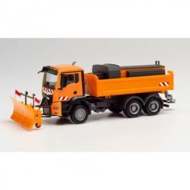 Herpa 312578 MAN TGS NN winter service truck, municipal orange