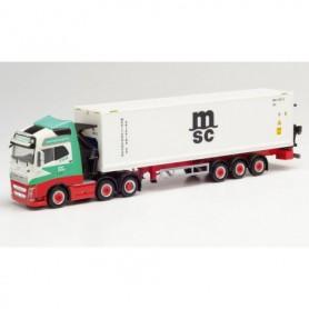 Herpa 312615 Volvo FH Gl. XL Hammar Container side loader trailer 'Enger Transport'