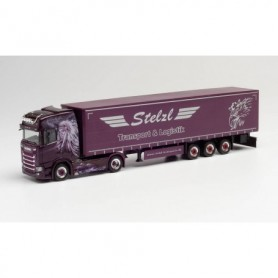 Herpa 312653 Scania CS 20 HD curtain canvas semitrailer 'Stelzl'
