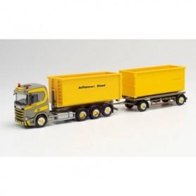 Herpa 312660 Scania CR HD 4 axle interchangeable trailer truck 'Dornbierer'