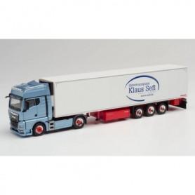 Herpa 312677 MAN TGX GX refrigerated box semitrailer 'Sefl Transporte Mönchengladbach'