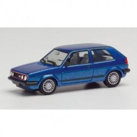 Herpa 430838 VW Golf II GTI with sport rims, blue metallic