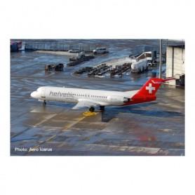 Herpa Wings 534703 Flygplan Helvetic Fokker 100 – HB-JVF