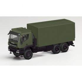 Herpa 746762 Iveco Trakker 6x6 flatbed truck with canvas cover 'Bundeswehr'