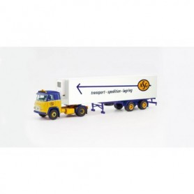 Herpa 87MBS026055 Scania Vabis LB 76 refrigerated box trailer 'ASG' (Schweden|Stockholm)