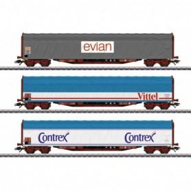 Märklin 47118 Mineral Water Transport Sliding Tarp Car Set