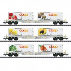 Märklin 47461 Coop Container Flat Car Set