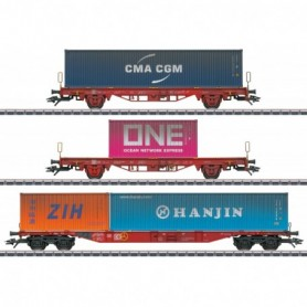 Märklin 47580 Type Lgs 580 Container Transport Car Set