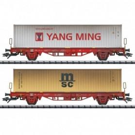 Trix 24139 Type Lgs 580 Container Transport Car Set