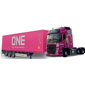 """Herpa 941785 Bil & Containertrailer Volvo FH GL XL """"Glomb / One"""""""