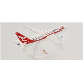 """Herpa Wings 612883 Flygplan Qantas """"100th Anniversary"""" Boeing 787-9 Dreamliner"""