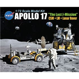 "Dragon 11015 Apollo 17 ""The Last J-Mission"" CSM + LM + Lunar Rover"