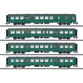 Märklin 43546 Vagnsset med 4 personvagnar typ SNCB/NMBS