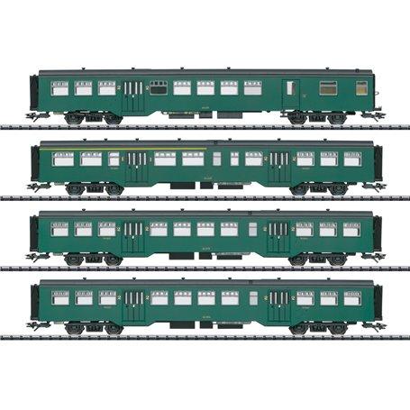 Trix 23221 Vagnsset med 4 personvagnar typ SNCB/NMBS