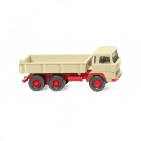 Wiking 42405 Flatbed tipper (Magirus) - light ivory