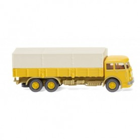 Wiking 47904 Flatbed lorry (Büssing 12.000) - mustard yellow