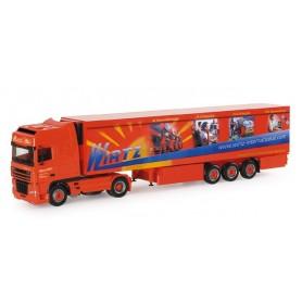 "Herpa 153003 DAF XF SSC refrigerated box semitrailer ""Wirtz Promo"""