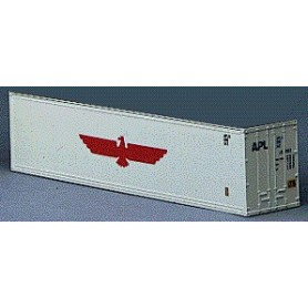 """Walthers 1856 Container 40-fots Reefer Box-Type Intermodal Container - R-T-R """"APL"""""""