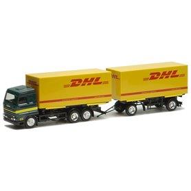 "Herpa Exclusive 4370 Bil & Släp Scania Streamline ""DHL"""