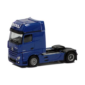 Herpa Exclusive 560442 Dragbil Mercedes Benz GigaSpace 2.5, 2-axlig, blå med svart chassie