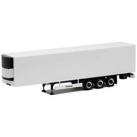 Herpa Exclusive 630593 Kyltrailer Medi Euro, 3-axlig, vit med svart chassie, svart/krom fälgar