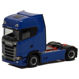 Herpa Exclusive 580449 Dragbil Scania CS HD, 2-axlig, blå med rött chassie