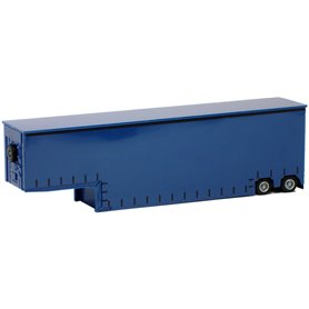 Herpa Exclusive 640510 Jumbotrailer Meusburger, 2-axlig, blå (AWM)