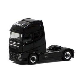Herpa Exclusive 590671 Dragbil Volvo GL FH XL 2013, 2-axlig, svart med svart chassie