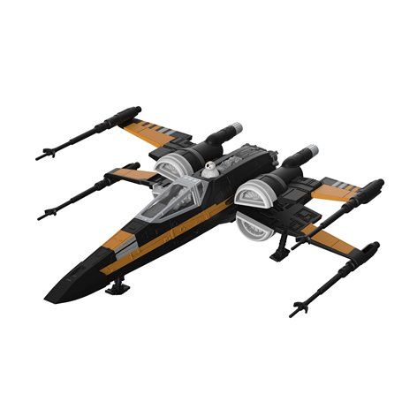 Revell 06763 Star Wars Build & Play Poe's Boosted X-Wing Fighter