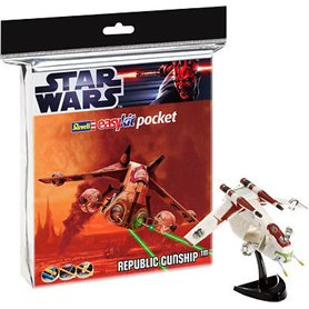 "Revell 06729 Star Wars Pocket ""Republic Gunship"" Easy Kit"