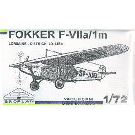 Broplan MS23 Flygplan Fokker F-VIIa/1m Lorrain Dietrich LD-12Eb