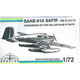 Broplan MS62 Flygplan SAAB-91 On Floats, conversion kit for Heller SAAB 91 Safir