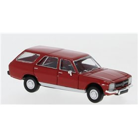 Brekina 870027 Peugeot 504 Break, röd, PCX