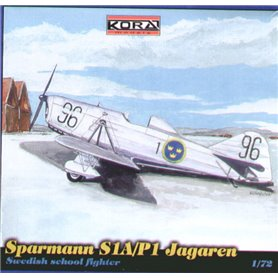 Kora Models 7297 Flygplan Sparmann S1A/P1 Jagaren, med svenska dekaler
