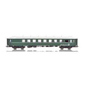 """NMJ 136401 Personvagn OBAS CB2 21227 """"Ofotbanen"""", grön"""