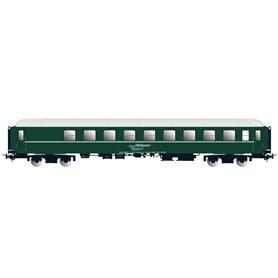 "NMJ 136402 Personvagn OBAS CB2 21227 ""Ofotbanen / Nordlys"", grön"
