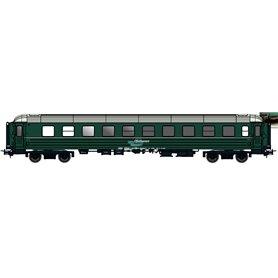 "NMJ 132401 Personvagn OBAS CB2 21225 ""Ofotbanen / Northern Light"", grön"