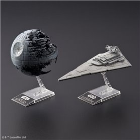 "Revell 01207 Star Wars BANDAI ""Death Star II + Imperial Star Destroyer"""